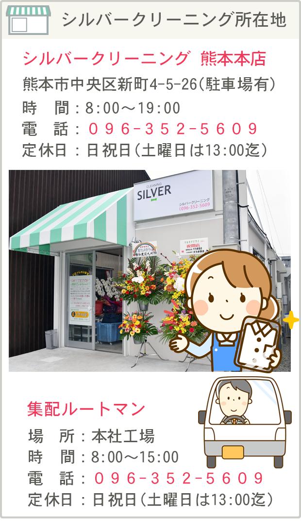 シルバークリーニング熊本本店所在地
